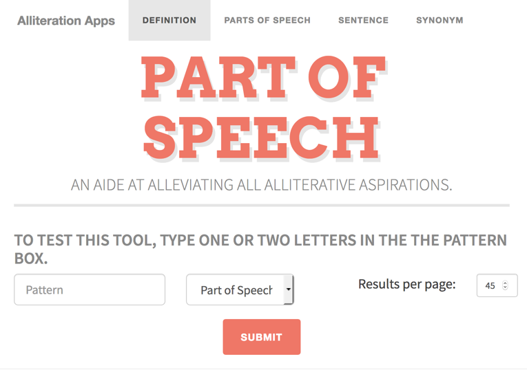 Alliteration Applications